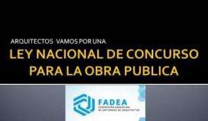 LEY NACIONAL DE CONCURSO PARA LA OBRA PUBLICA1