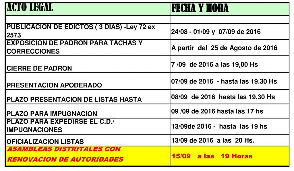 calendario asamblea